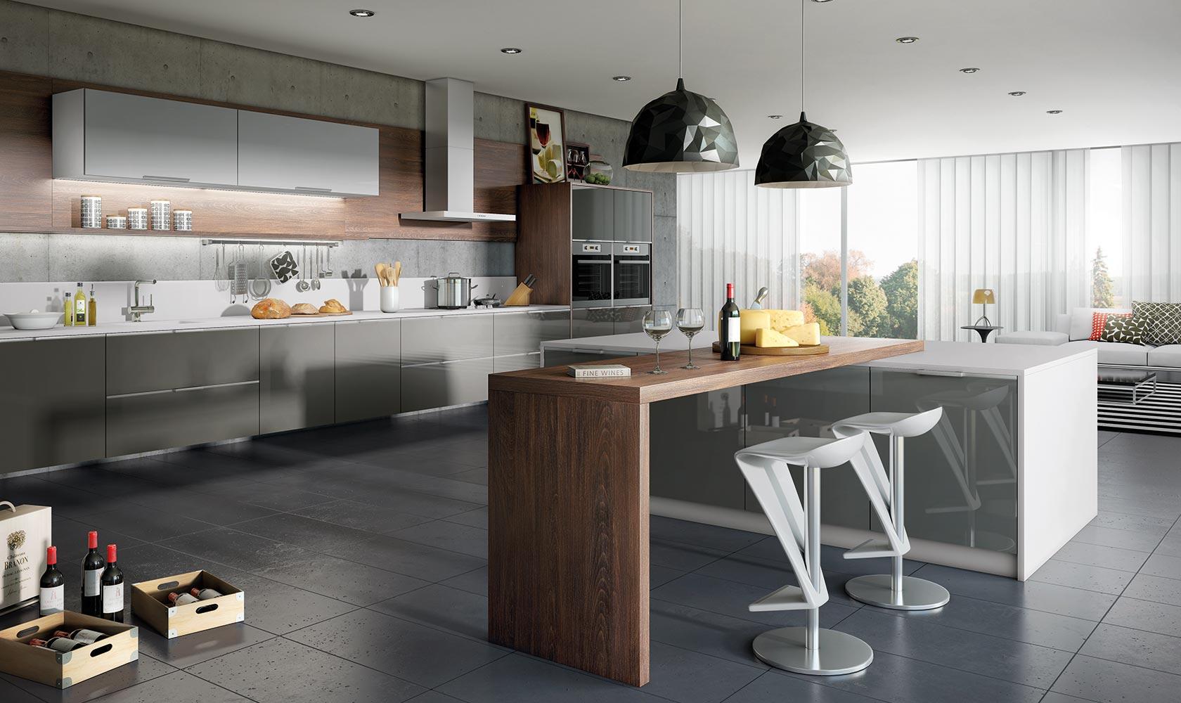 Cozinha Cinza e Rústica Simonetto